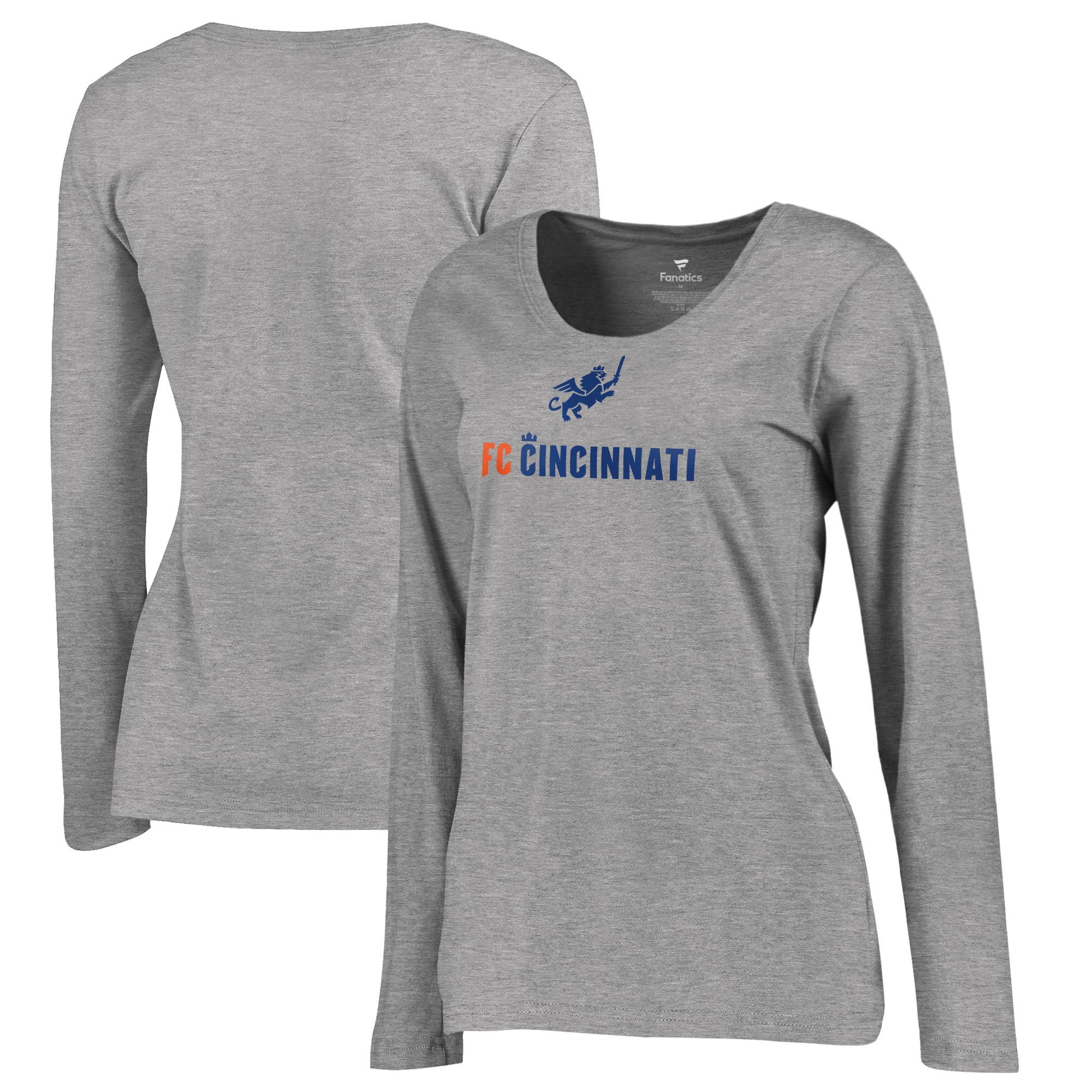 FC Cincinnati Fanatics Branded Women's Victory Arch Plus Size Long Sleeve T-Shirt - Heather Gray