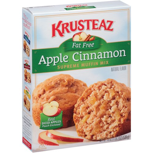 Krusteaz Fat Free Apple Cinnamon Supreme Muffin Mix, 19 oz