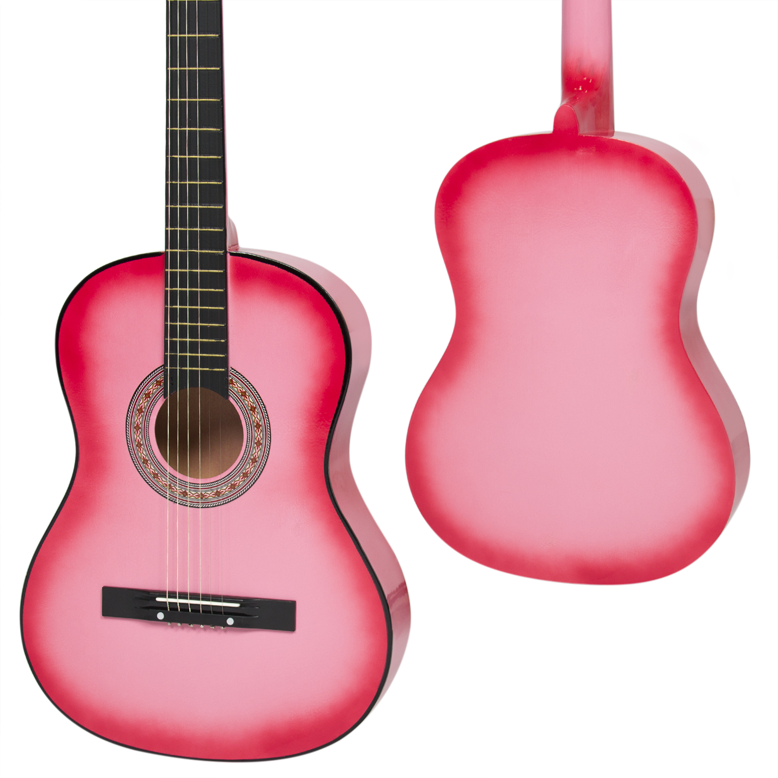 Best Choice Products Beginners 38\'\' Acoustic Guitar with Case, Strap ...