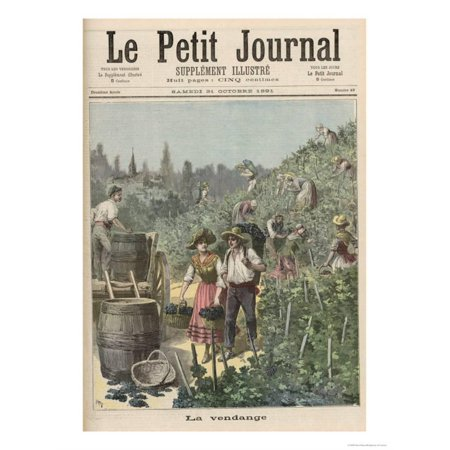 The Wine Harvest, from Le Petit Journal, 31st October 1891 Print Wall Art By Henri Meyer](Oct 31st Halloween)