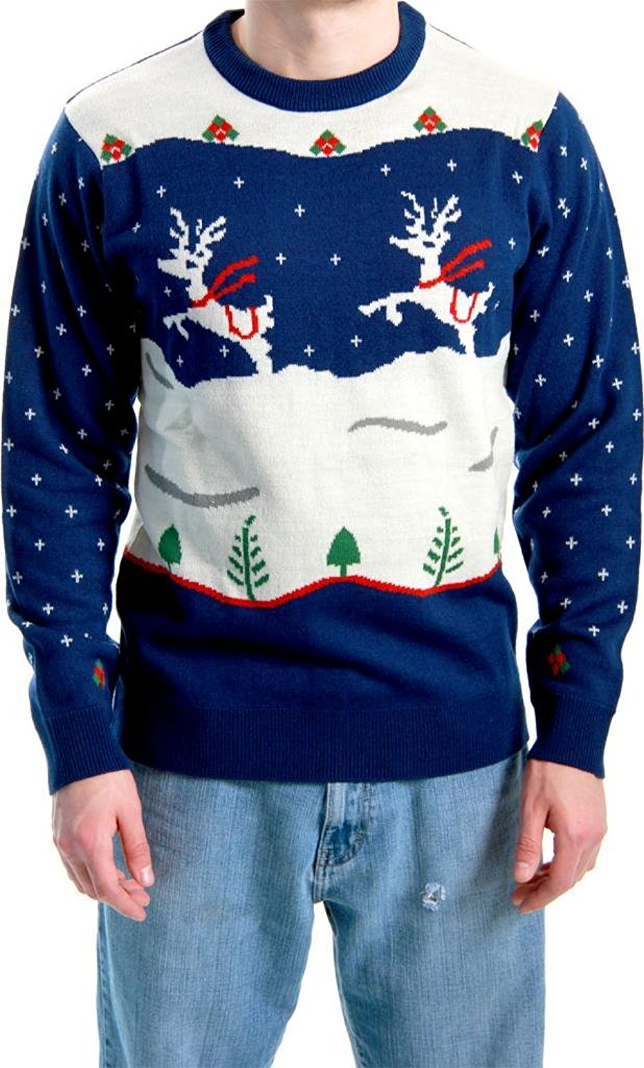 Costume Agent Ugly Christmas Sweater Step Brothers Dale Doback