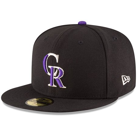 Colorado Rockies New Era Authentic Collection ON Field 59FIFTY Structured Hat - Black