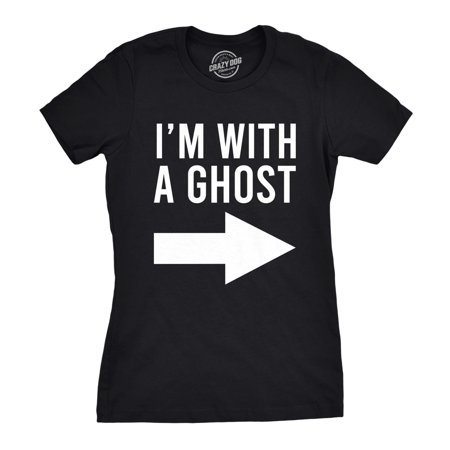The Best Funny Halloween Costumes (Womens I'm With A Ghost Tshirt Funny Halloween Costume)