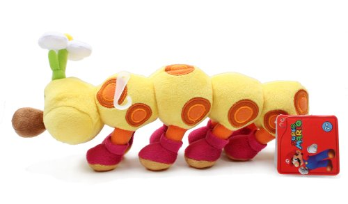 "Little Buddy Official Super Mario Plush 11/"" Wiggler//HanaChan"