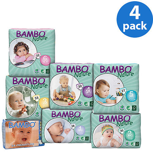 Bambo Nature Diapers, (Choose Your Size)