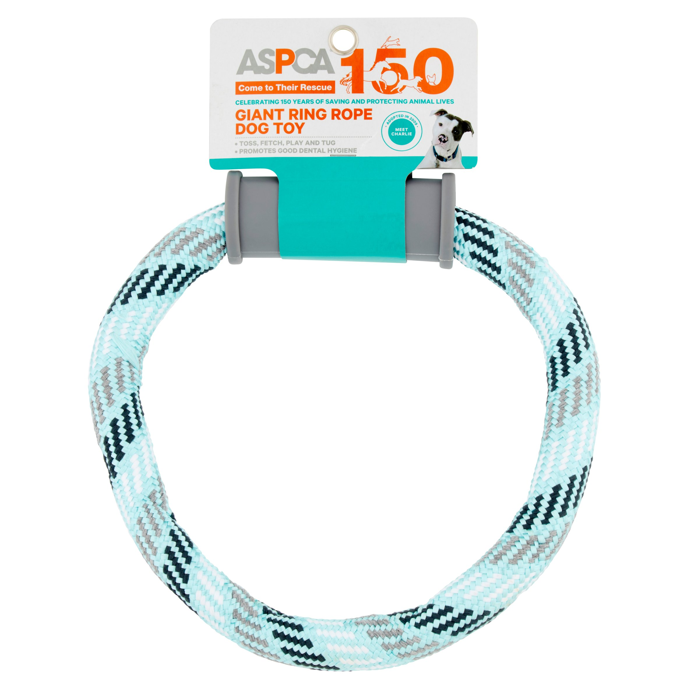 ASPCA Giant Ring Blue Rope Dog Toy
