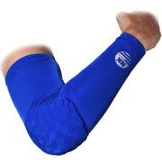 DODOING Honeycomb Crashproof Basketball Arm Sleeve Elbow Pad Guad Support sports Armguards Brace Protector, M L XL XXL, Blue