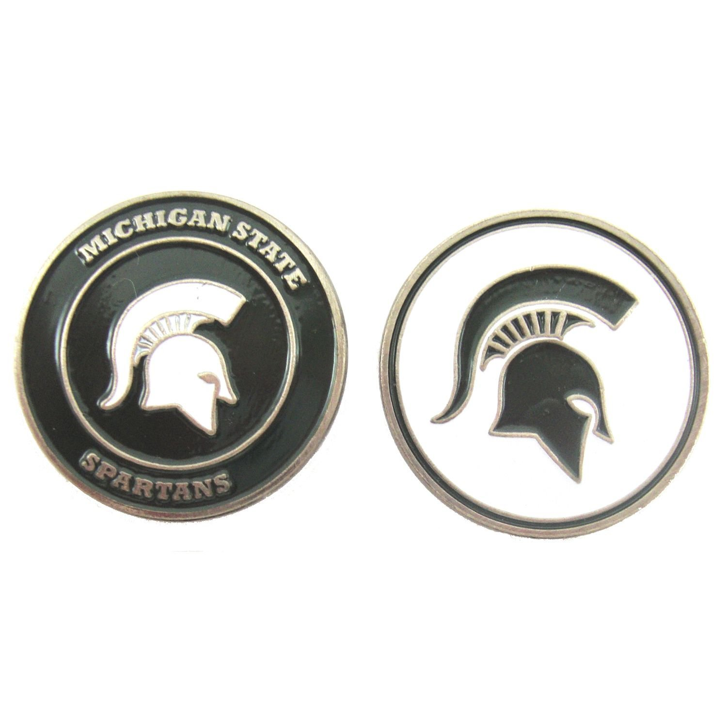 Michigan State Spartans Tin Sign 12 x 12in, Michigan State embossed aluminum sign in team colors By Tag City