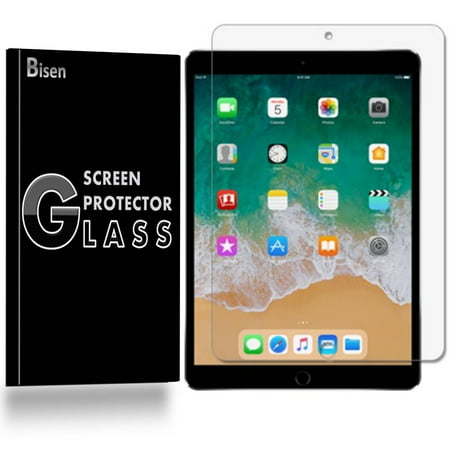 [2-Pack] BISEN Apple iPad 9.7 (5th Gen, 2017 Release) Screen Protector Tempered Glas, Anti-Scratch, Anti-Shock, Shatterproof Da Glas Screens Video