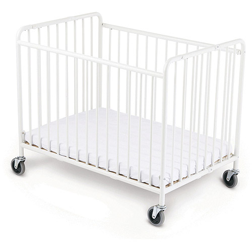 Foundations StowAway Portable Crib with Mattress White by Foundations