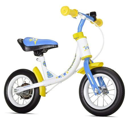WeeRide Learn 2 Ride Balance Bike, White, 10-Inch ()