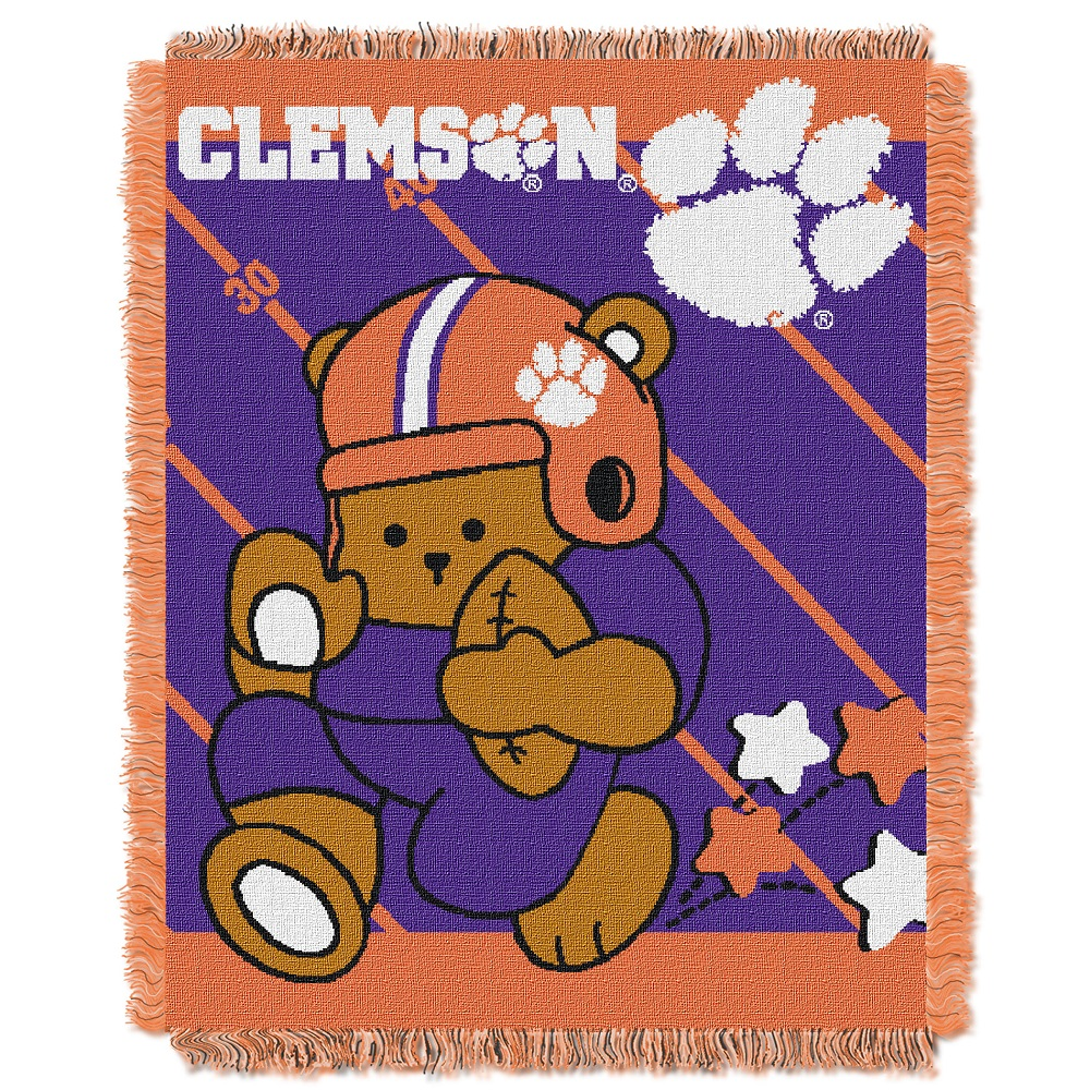 Clemson Jacquard BABY Throw Blanket