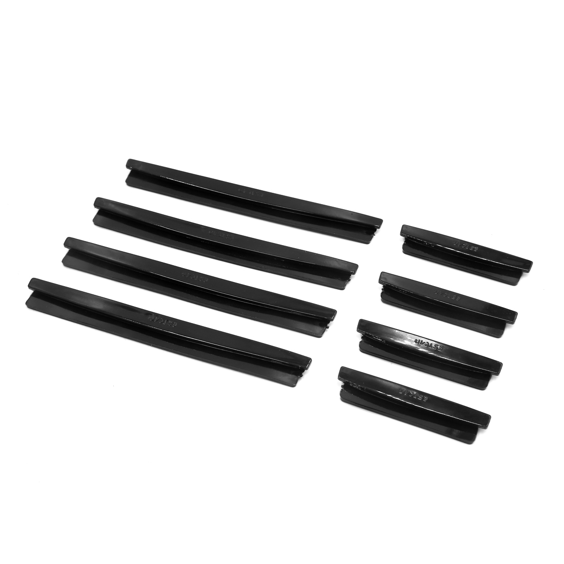 8pcs Black Rubber Car Body Door Side Edge Guard Strip Scratch Decor Protector