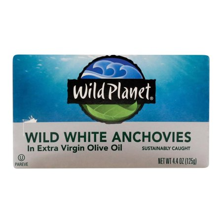 Wild Planet White Anchovies In Extra Virgin Olive Oil - pack of 12 - 4.4 (White Anchovies)