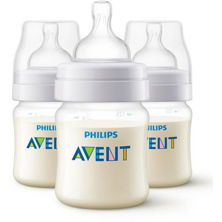 Philips Avent Anti-Colic Baby Bottles - 4oz, Clear, 3ct