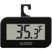 La Crosse Technology 314-152-B Digital Refrigerator-Freezer Thermometer with Hook, Black