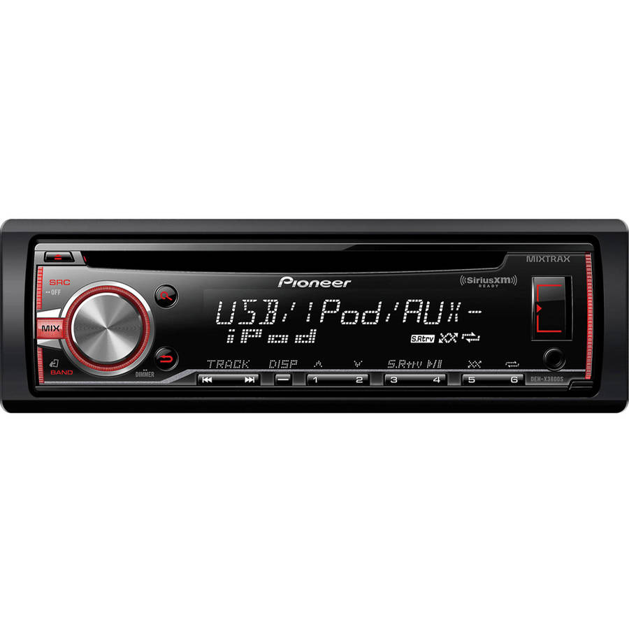 Pioneer DEH-X3800S MIXTRAX Single-DIN In-Dash Car Stereo