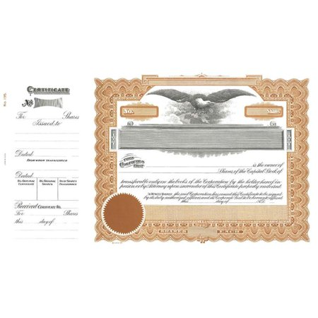 Goes 195 Capital Stock Certificate - Pack of 100
