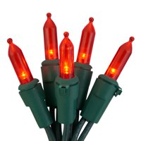 Holiday Time Red LED Mini Christmas Lights, 86', 100 Count, 4 Pack