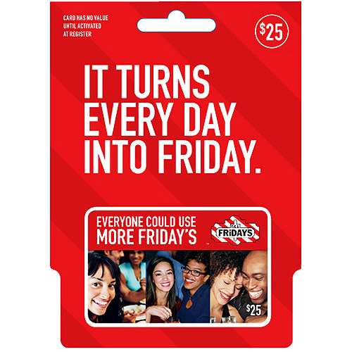 TGI Friday's $25 Gift Card - Walmart.com