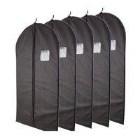 Product Image Plixio Black Garment Bags For Storage Of Suits Or Dresses Includes Zipper Transpa Window