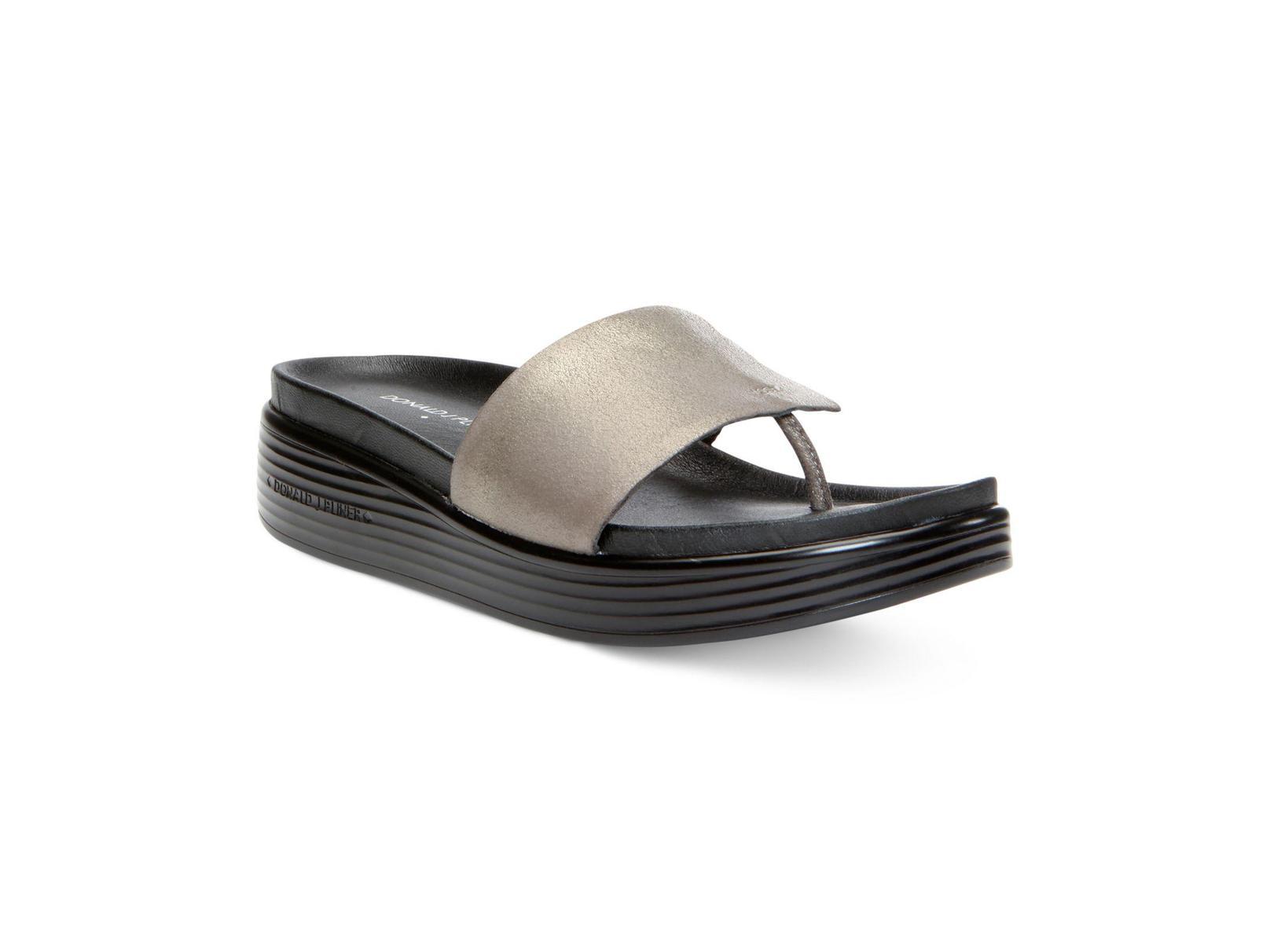 9f8ed117482 Donald J Pliner Womens Fifi Leather Open Toe Casual Platform