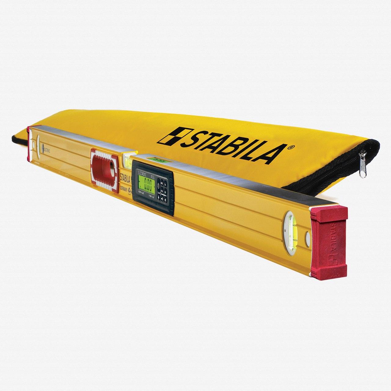 Stabila TECH 48 Inch Aluminum 5 Mode Digital Electronic Level w  Carrying Case 36548 by Stabila