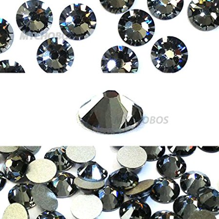 144 pcs Crystal Silver Night (001 SINI) Swarovski 2058 Xilion / NEW 2088 Xirius 16ss Flat backs Rhinestones 4mm