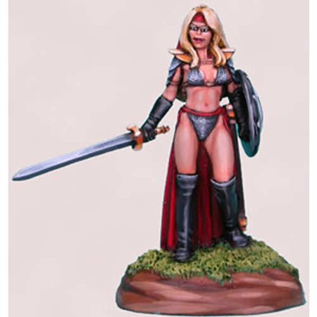 Faux Chainmail (Chick In Chainmail No 4 Female Fighter Miniature Elmore Masterwork Dark Sword)