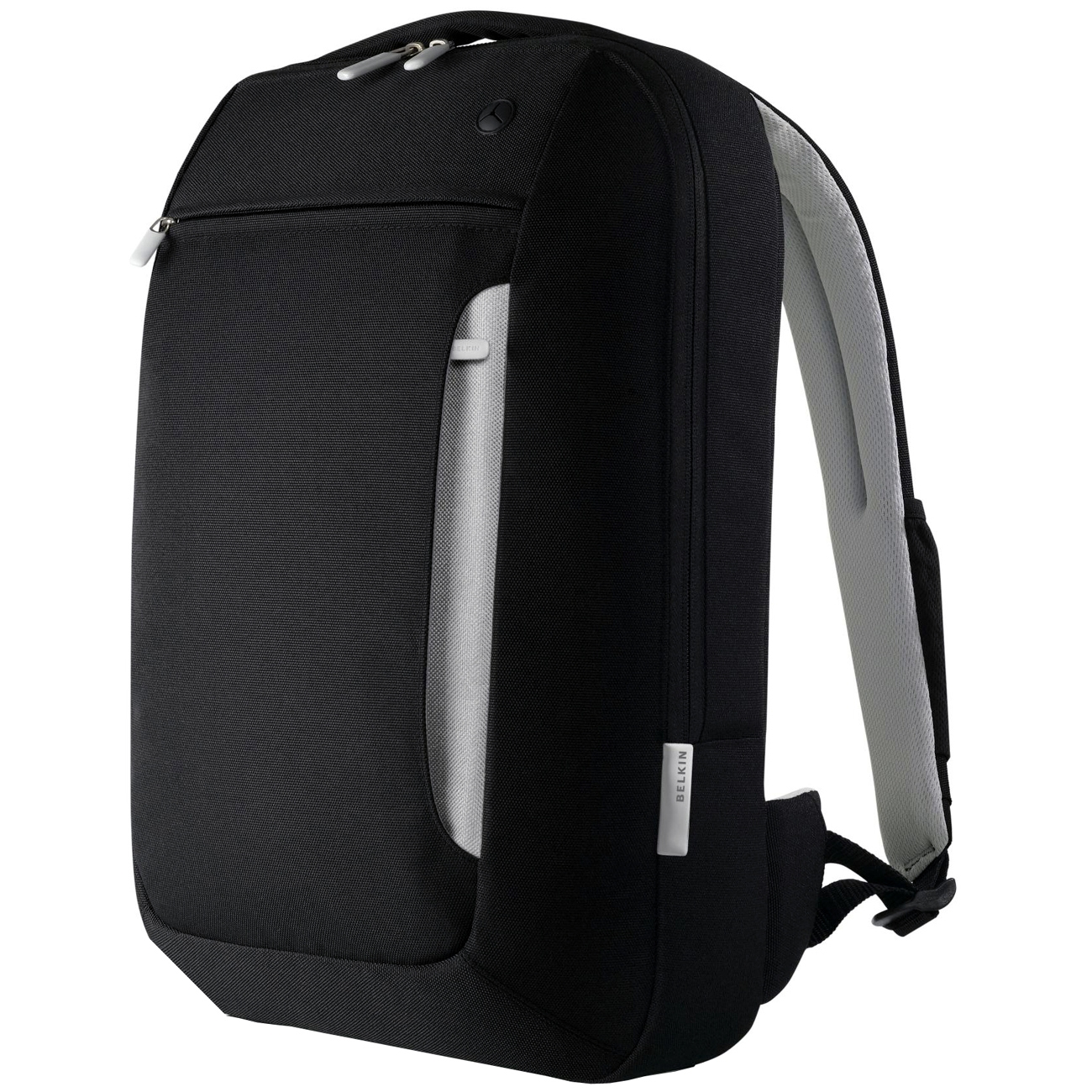 Belkin Slim Notebook Backpack - Backpack - Polyester - Black, Light Gray