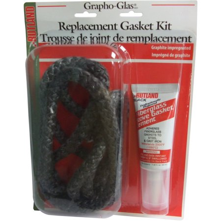 Rutland Products Replacement Stove Gasket (Graphoglas Gasket Pellet Stove Rplmnt Kit Rope, 7' x 7/8