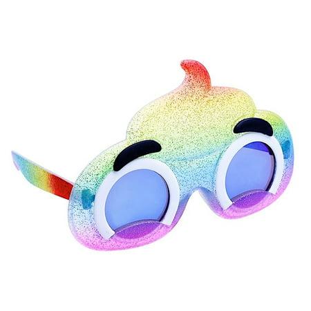 Pile Of Poop Halloween Costume (Party Costumes - Sun-Staches - Kids Lil' Emoji Rainbow Poop New)