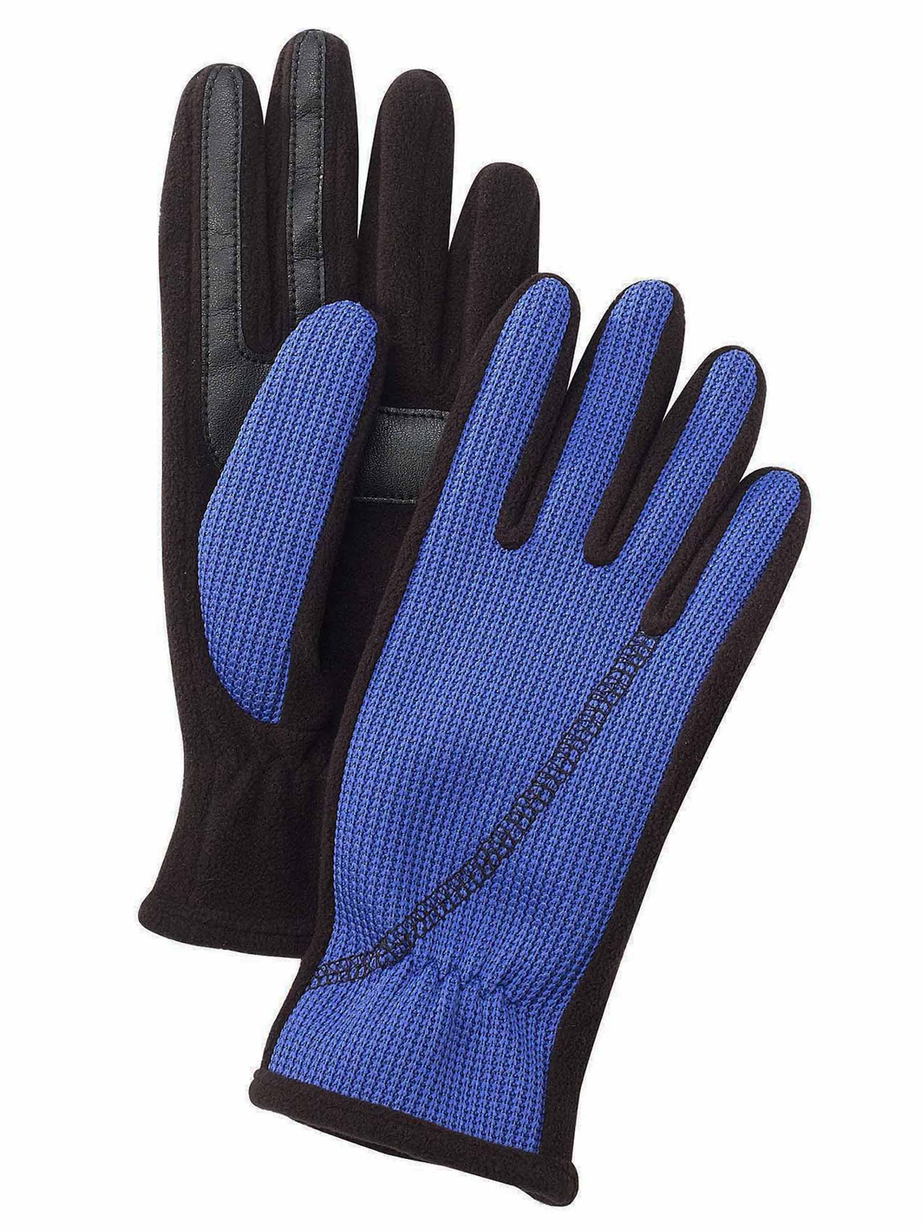 Isotoner Womens SmarTouch Active Stretch Winter Gloves - One Size - Blue Spark