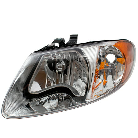 Voyager Headlight Set (BROCK Headlight Headlamp Driver Replacement for 01-07 Dodge Caravan Chrysler Town & Country Voyager 113