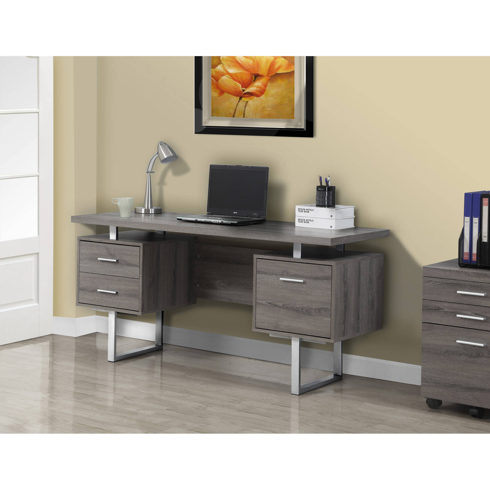 Monarch computer desk 60l multiple colors walmart com