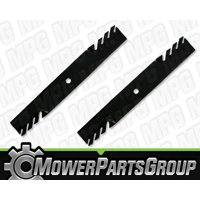 "D371 (2) Toothed Blades Fits John Deere GT225 GT235 GT235E GT245 with 42"" deck"