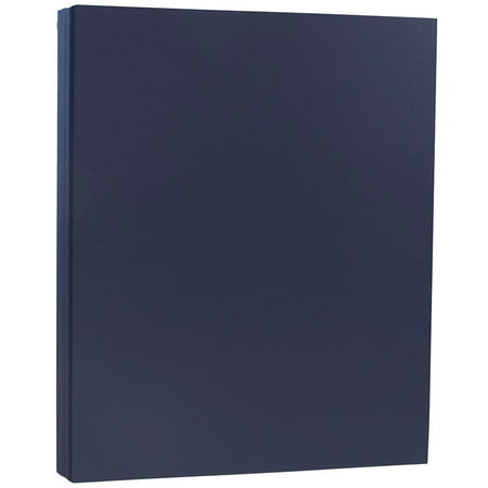 JAM Paper Premium Paper Cardstock, 8.5 x 11, 80 lb Navy Blue Cover, 50 Sheets/Pack