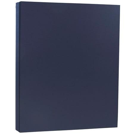 JAM Paper Premium Paper Cardstock, 8.5 x 11, 80 lb Navy Blue Cover, 50