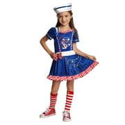 Goodmark Girls Sailor Girl Costume with Dress & Hat