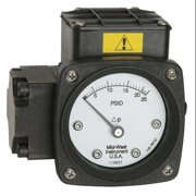 MIDWEST INSTRUMENT 142-AA-00-O(AA)-100H Pressure Gauge,0 to 100 In H2O