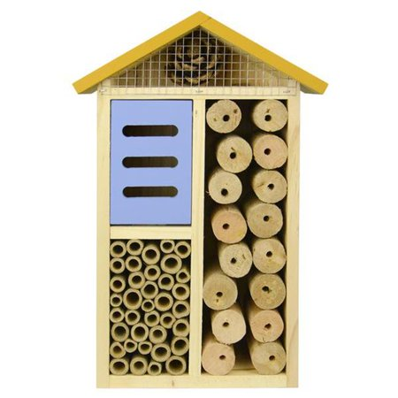 Natures Way Bird Products PWH3-AST Better Gardens Multi-Chamber Beneficial Insect House - Assorted, 11.8 x 8 x 3.5 in.