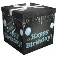 gift box 12x12x12 amrita birthday pop up in seconds comes with decorative ribbon mounted on the lid a gift tag and tissue paper - no glue or tape required