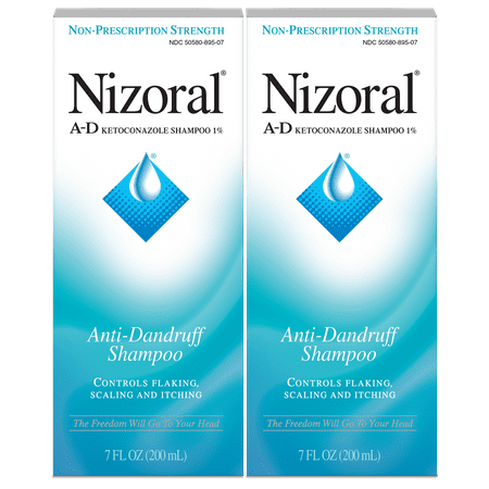 2 Pack, Nizoral Clinical Strength A-D Anti-Dandruff Shampoo, 7