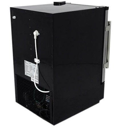 "EdgeStar IB120 Stainless Steel and Black 15"" Wide 6 Lbs. Capacity Built-In Ice Maker with 12 Lbs. Daily Ice Production"