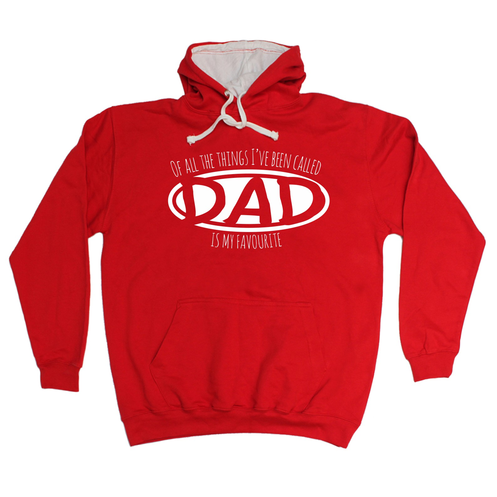 123t Things Ive Been Called Dad Is My Favourite Father Grandfather Son Pop 2 TONE HOODIE