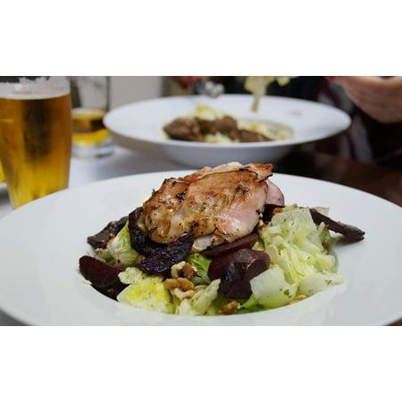 Canvas Print Salad Vegetables Dish Restaurant Food Bacon Stretched Canvas 10 x (Top 10 Best Restaurant Salads)