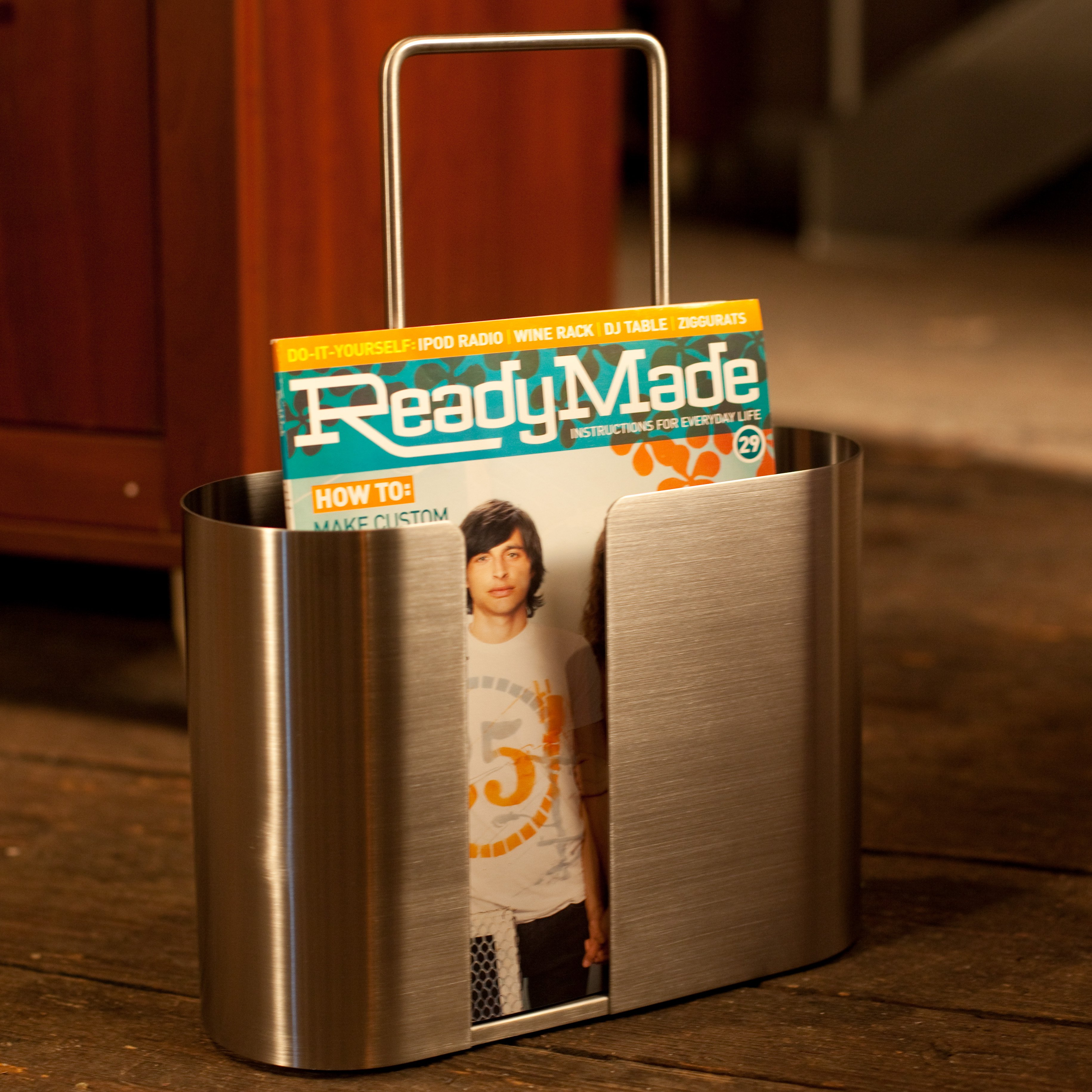 Seamo Stainless Steel Magazine Rack