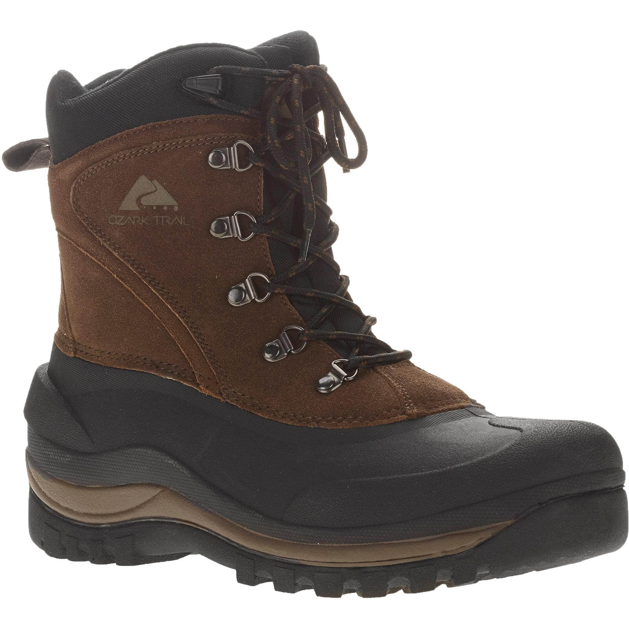 ozark trail men u0027s brown pac winter boots walmart com