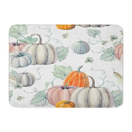 Thanksgiving Classroom Door (SIDONKU Pattern Watercolor Pumpkins It is Thanksgiving Halloween Recipe Fall Doormat Floor Rug Bath Mat 23.6x15.7)