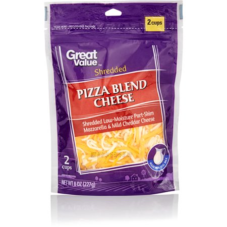 Great Value Finely Shredded Pizza Blend Cheese, 8 oz ...